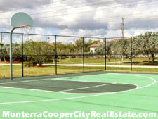 Monterra residents have two basketball courts available.